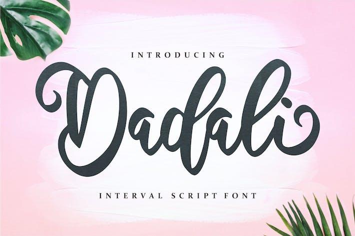 Thumbnail for Dadali - Interval Script Font
