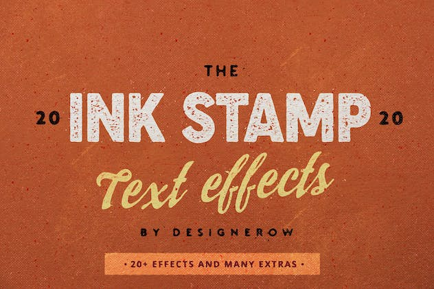 Photoshop Ink Stamp effect