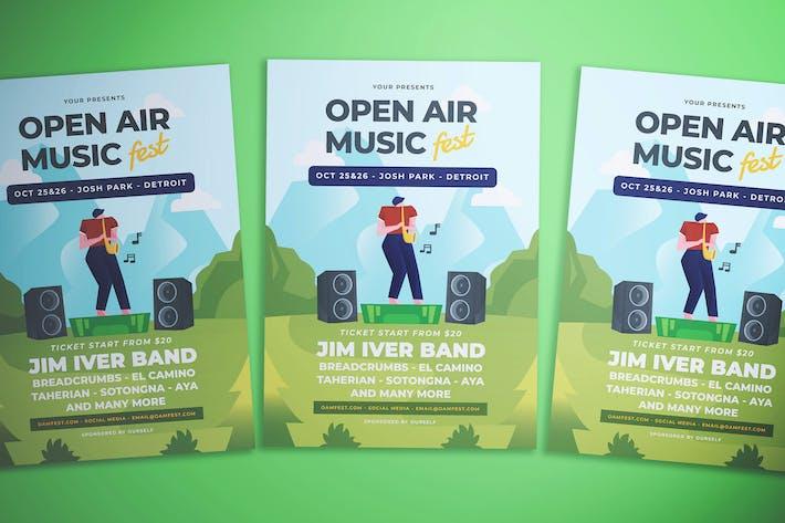 Thumbnail for Open Air Music Festival Flyer