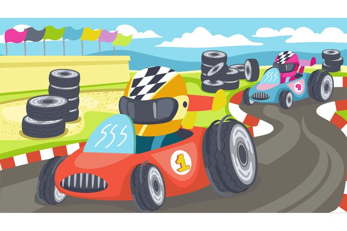 Thumbnail for Go Cars Kids Illustration