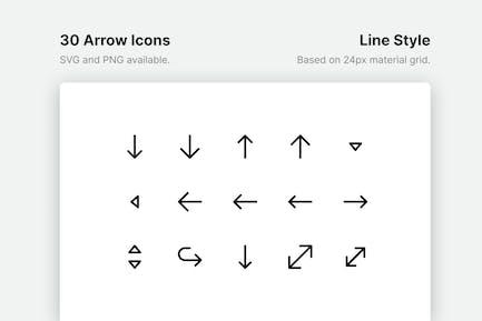 Pfeillinie Icons