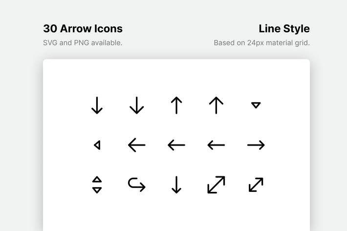 Arrow Line Icons