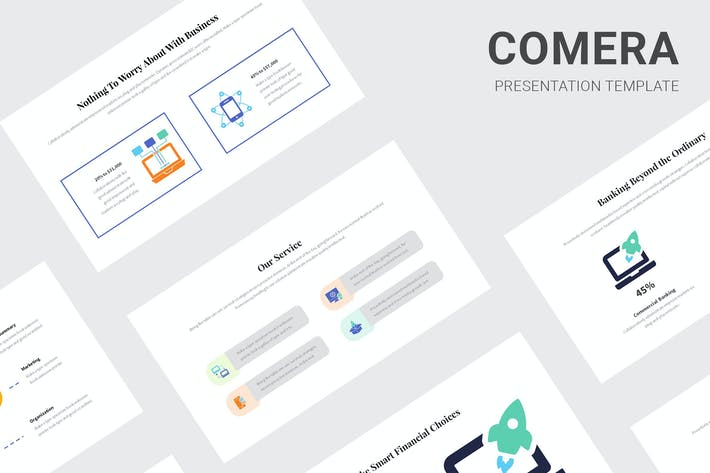 Thumbnail for Comera - Pitch Deck Infographic Powerpoint