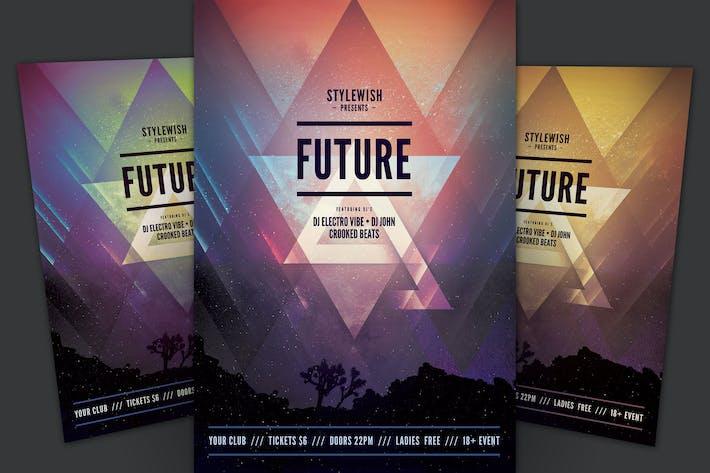dépliant futuriste