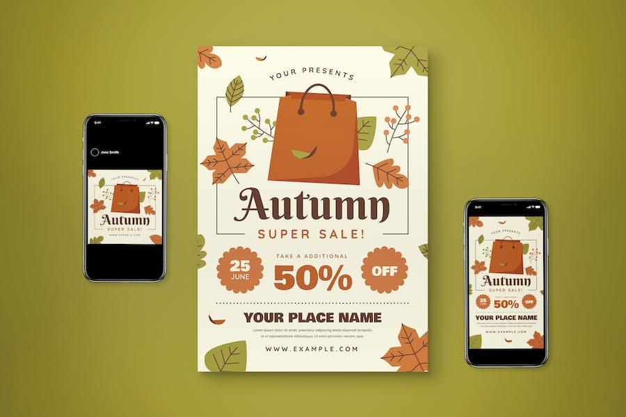 Autumn Sale Flyer Set