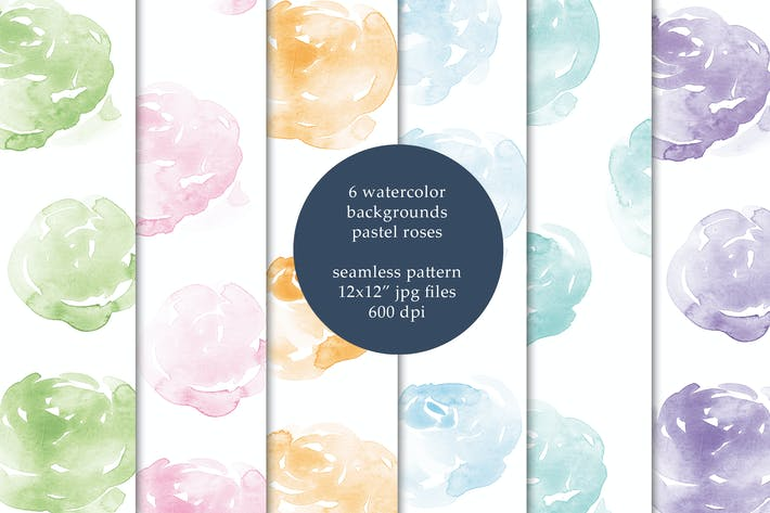 Thumbnail for Watercolor seamless backgrounds