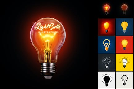 Light Bulb Illustration Set