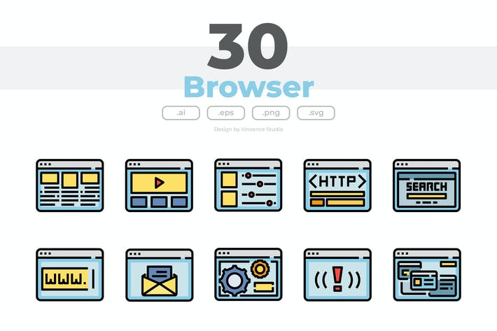 30 Browser Icons