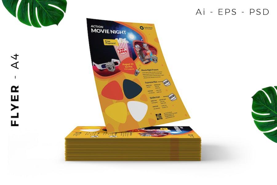Movie Night Event Flyer Design