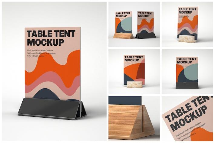 Thumbnail for Table Tent Mockup Set