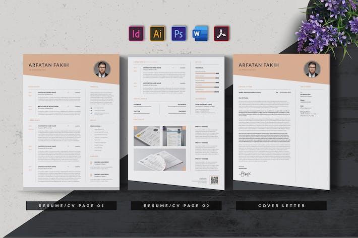Thumbnail for Minimal & Clean Resume/CV AN