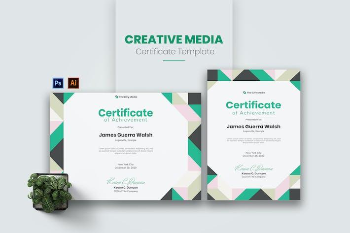 Thumbnail for Creative Media Certificate