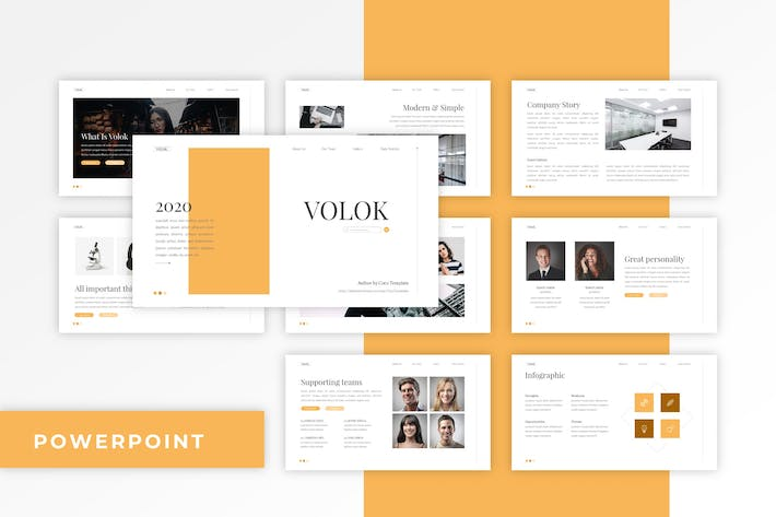 Thumbnail for Volok - Classic PowerPoint Template