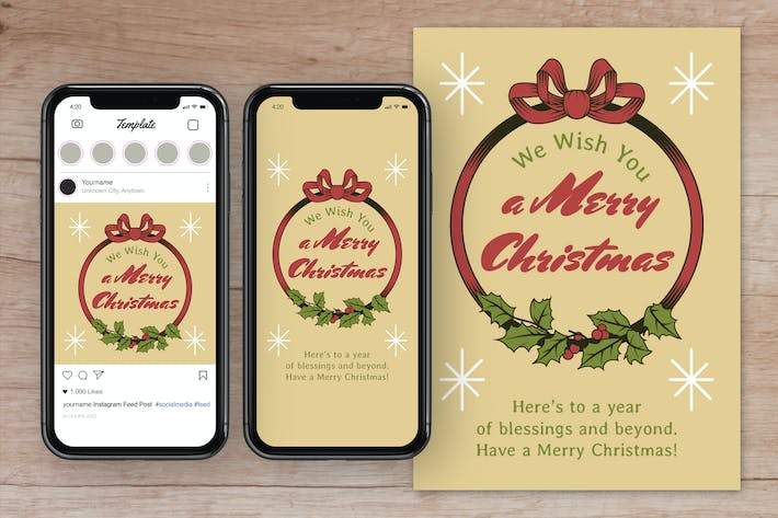 Thumbnail for Christmas Greetings Social Media Post