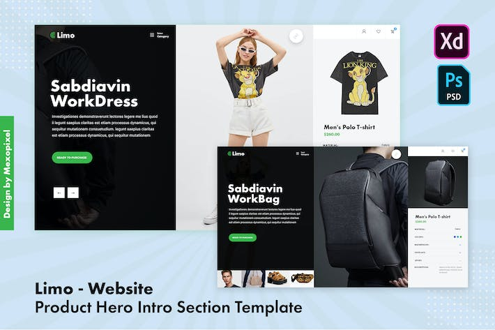 Thumbnail for Limo - Website Product Hero Intro Section Template