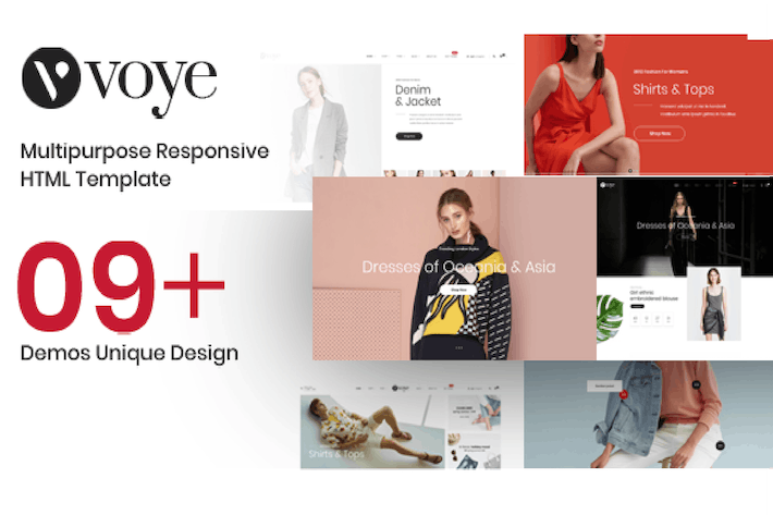 Thumbnail for Voye – Multi Layout Fashion eCommerce HTML Templat