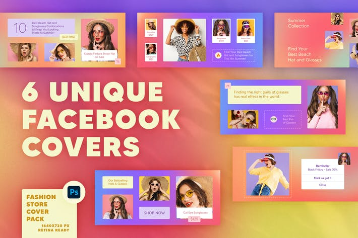 Thumbnail for Fashion Facebook-Covers