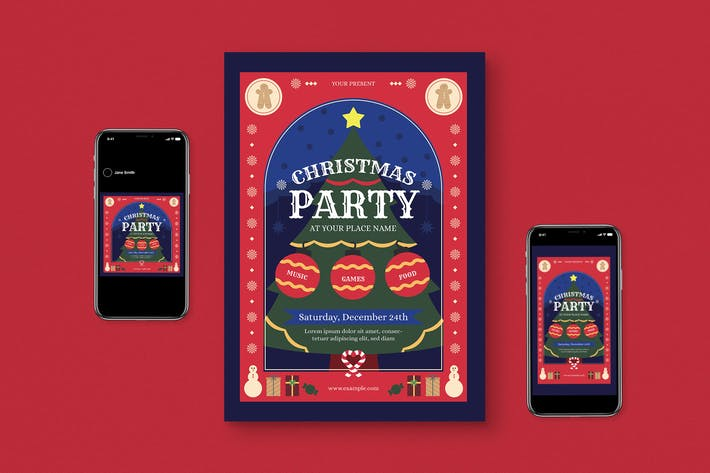 Thumbnail for Christmas Party Flyer Pack