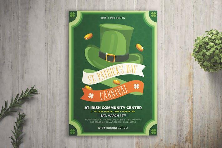 St Patrick's Day Carnival Flyer