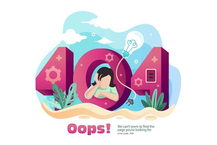 Cover Image For ERROR 404 - Vector illustration