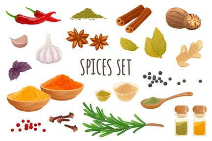 Spices Realistic 3D Elements