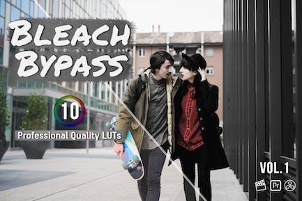 Bleach Bypass 10 LUTs for Final Cut, Premiere Pro