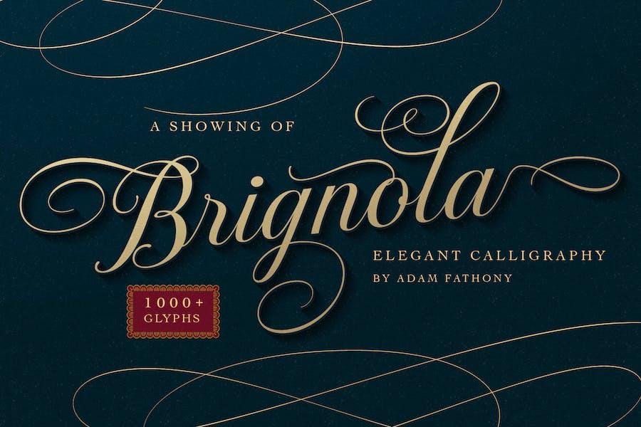 Caligrafía elegante Brignola