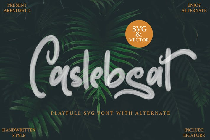 Thumbnail for Caslebeat - Playfull SVG Font
