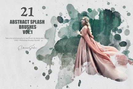 21 pinceles salpicaduras abstractos - Vol. 1 pinceles