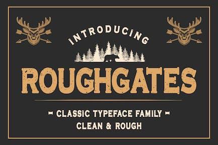 Roughgates - Classic Typeface Font