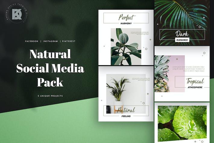Cover Image For Natural Green Social Media Pack