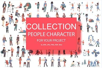 Большая Коллекция плоских людей персонаж