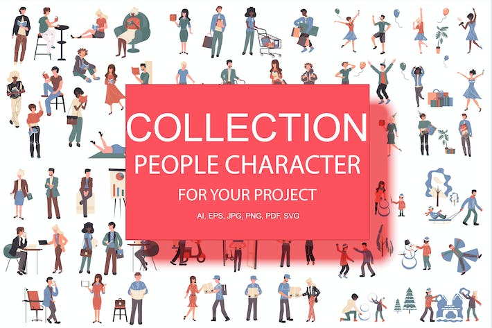 Thumbnail for BIG Collection Flat People Character