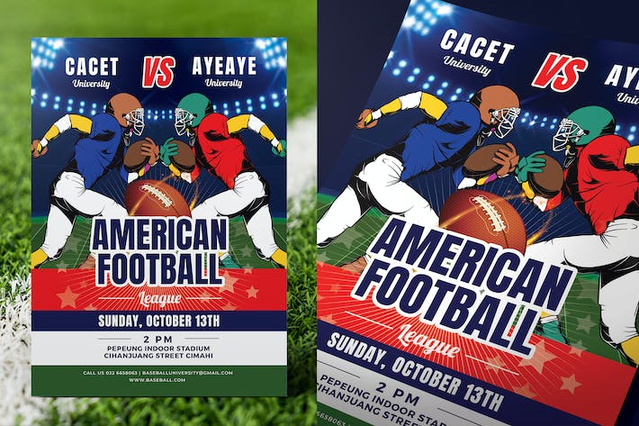 Thumbnail for American Football Game Flyer
