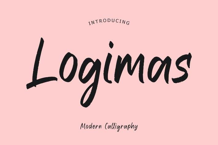 Шрифт современной каллиграфии Logimas