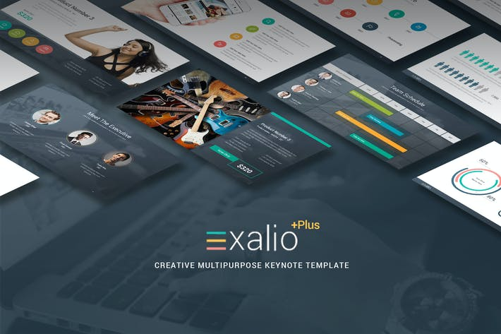 Thumbnail for Exalio Plus - Многоцелевой Шаблон Keynote
