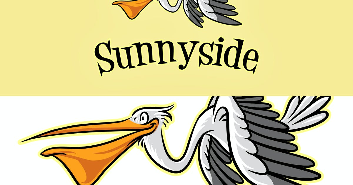 Download Cartoon Pelican Mascot Logo by Suhandi