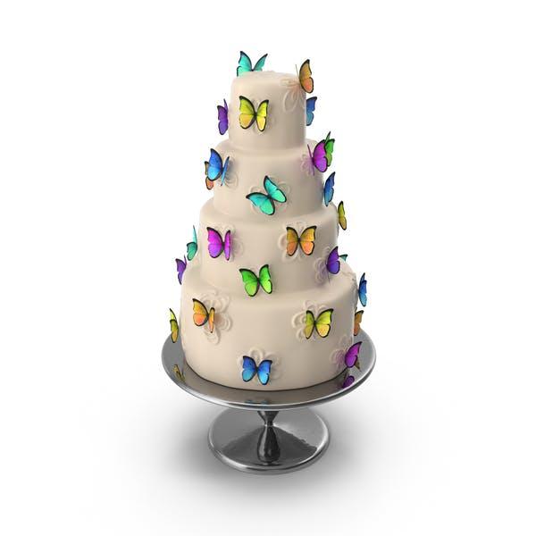 Kuchen mit Schmetterlingen