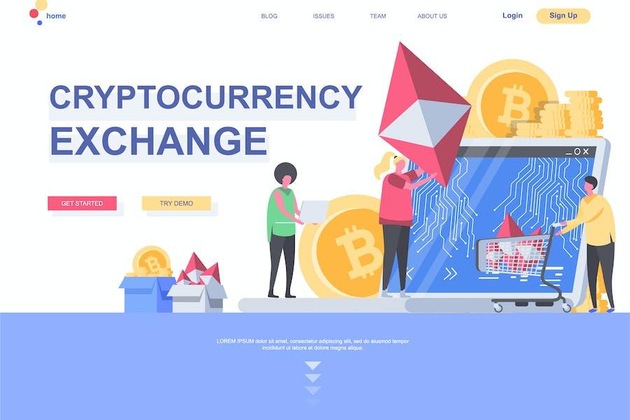 Modèle de page de destination Blockchain