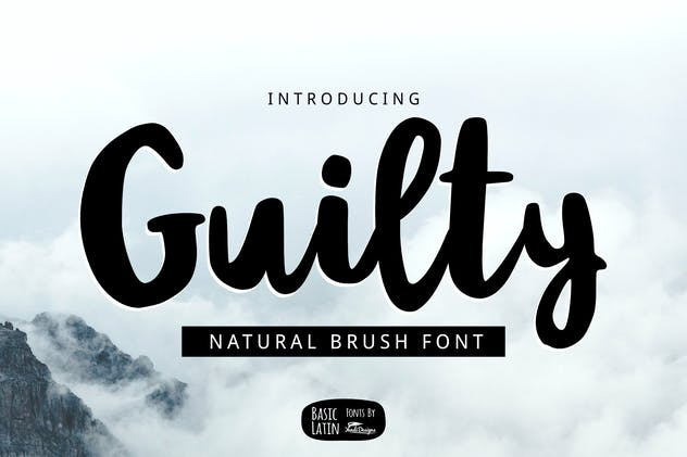 Guilty Brush Font