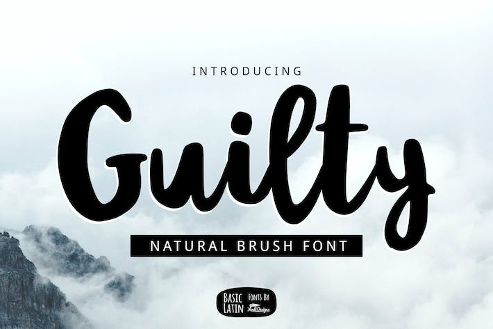 Thumbnail for Guilty Brush Font