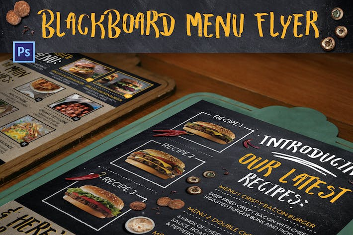 Blackboard Menu Flyer