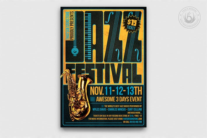 Thumbnail for Jazz Festival Flyer Template V2