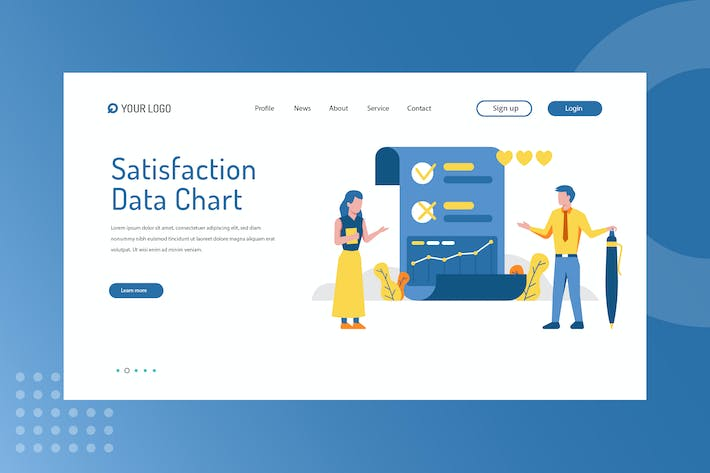Satisfaction Data Chart Landing Page