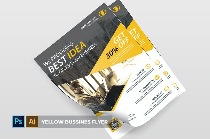 Thumbnail for Yellow business   Flyer