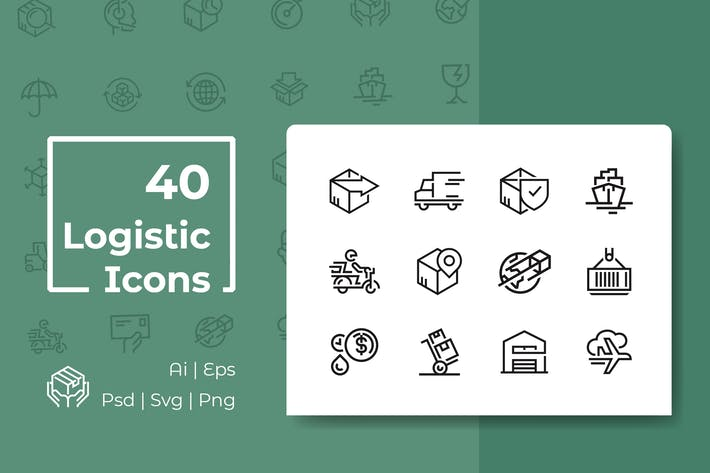 Thumbnail for Logistics Line Icon