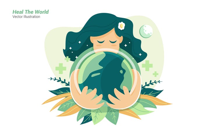 Thumbnail for Heile die Welt - Vektor Illustration