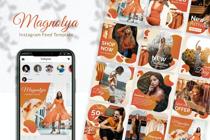 Thumbnail for Magnolya Instagram Feed Template