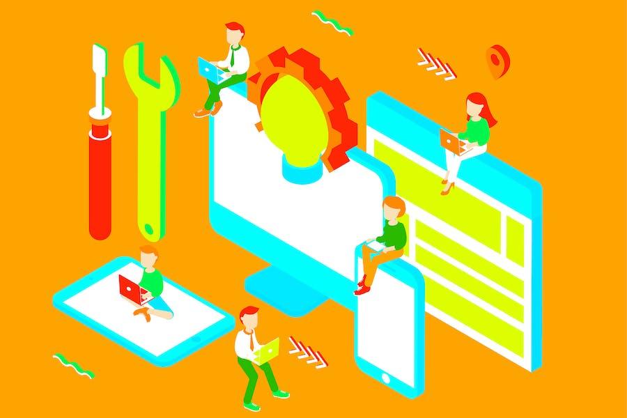 Services Isometric Illustration