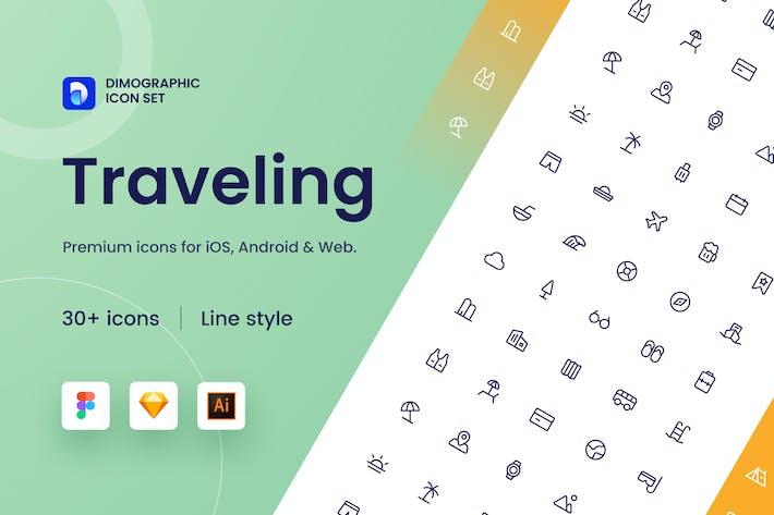 Thumbnail for Reise-Icon Set UZ